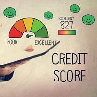Credit score on gauge